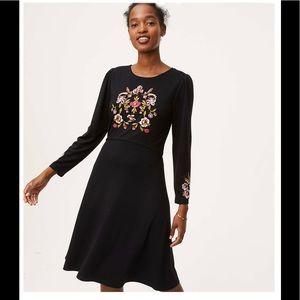 Loft Floral Embroidered Dress